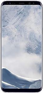 Samsung Galaxy S8+, 64GB, Arctic Silver - Fully Unlocked (Renewed)
