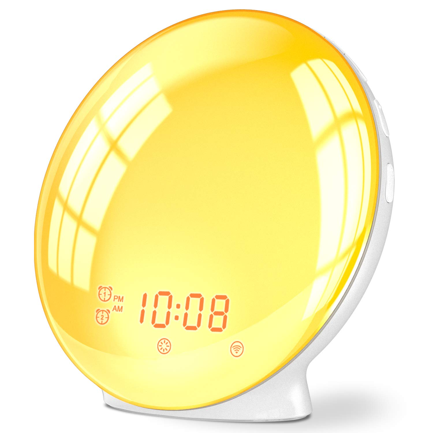 Wake Up Light Alarm Clock, Burbupps Kids Night Light Compatible with Alexa & Google Home, 7 Colored Sunrise Simulation and Sunset Fading, Dual Alarm Clock with FM Radio, USB Charge Port