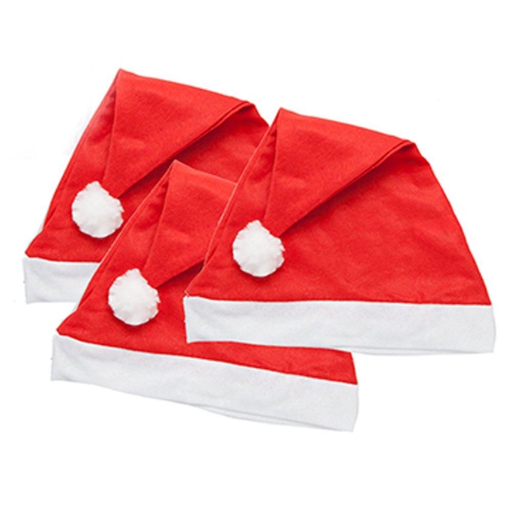 Felt Santa/Father Christmas Hats 3/Pk BML C251-616-PMS-3