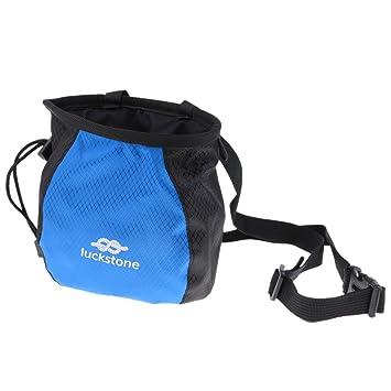 MagiDeal Bolsa de Magnesio con Cordón para Gimnasio Escalada - Negro y azul: Amazon.es: Deportes y aire libre