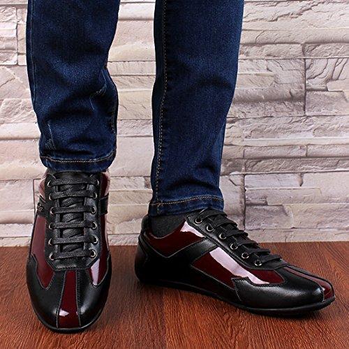 Minishion Ragazzi Mens Color Block Sport Impermeabili Moda Sneakers Nero / Rosso