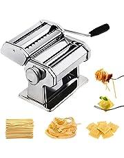 Chefly Pâtes ravioli Ensemble tout en un 9Épaisseur paramètres pour préparer Fettuccine Spaghetti à lasagnes Rouleau à Pâte Presse Cutter de nouilles machine à pain P1802