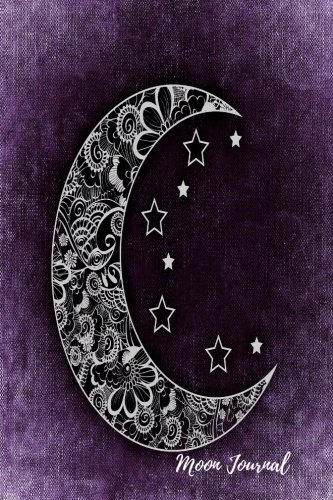 Moon Journal: Purple Notebook To Write In For Men, Women, Girls, Boys, Blank, Unlined, Unruled, Empty Journal 6inx9in 200 Pages (Blank Books)