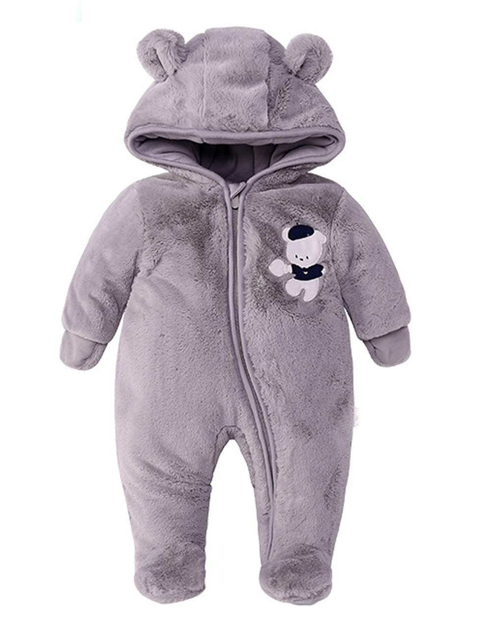 LJ Unisex-Baby Footie Snowsuit White for 12-18month by LJ