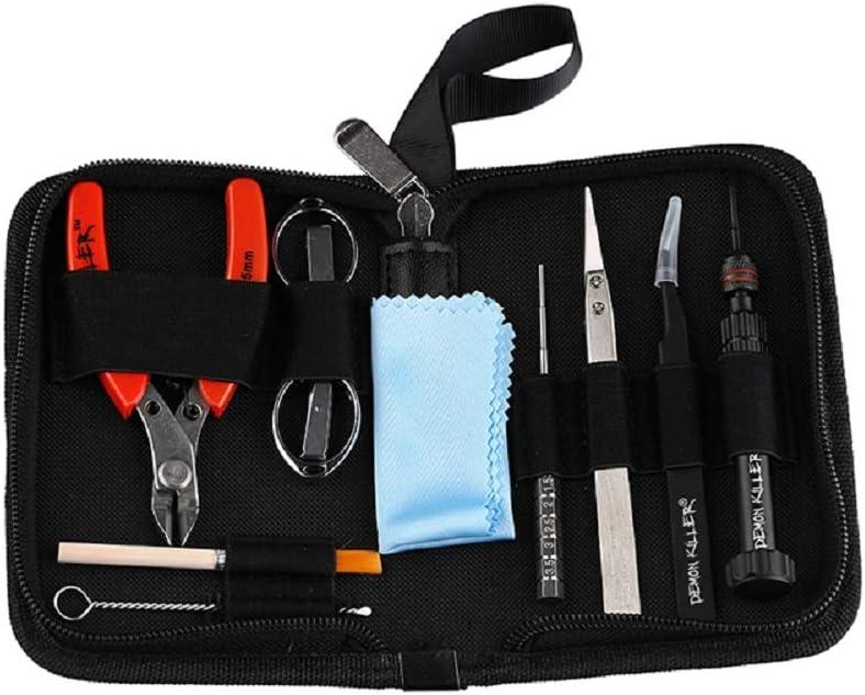 DIY Tool Kit, 11 in 1 Jig Tool Contain Pliers/Scissors/Tweezer/Multiduty Screw Drivers with A Zipper Building Bag
