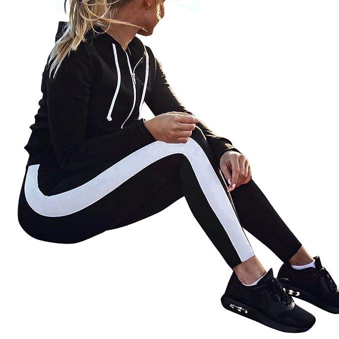 Yusealia Yoga Mujer Deportivas Pantalones, Alto Elásticas de ...