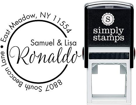Custom Monogram Address Stamp First And Last Name Custom Return Address Stamp Self Inking Stamp Personalized Address Stamps