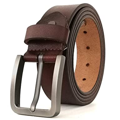 e1994cabe JingHao pin buckle Mens Belts Genuine Leather Casual Belt Size S-6XL (2XL  40""