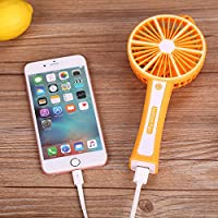 TiTa-Dong Portable Lemon Mini Handheld USB Fans Battery Operated Desktop For Home Travel Orange