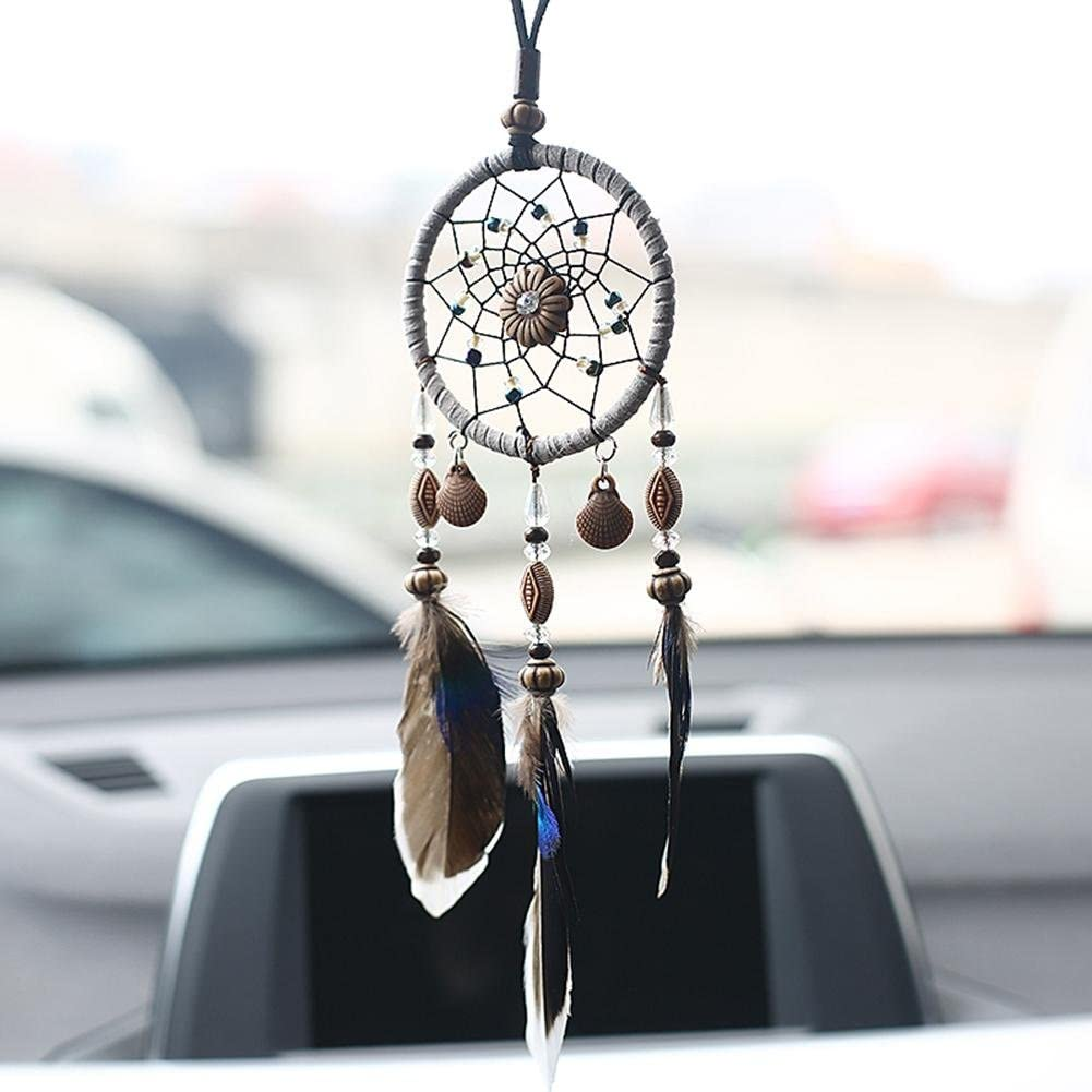 Acchiappasogni auto Home Decor Feather Handmade American Indian Dreamcatcher