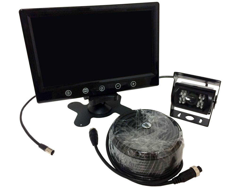 車用 バックカメラ モニター セット 9インチ LCD 液晶モニター 12v 普通車 にも 24v トラック にも 対応  CCD LED 暗視 搭載 カメラ 20m 配線付き 防水仕様 1年保証 B01IB4NMOW