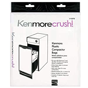 Heavy Duty Trash Compactor Bags - 60 Count - Fits All 15-inch Rectangular Drawer Compactors - Made in the USA