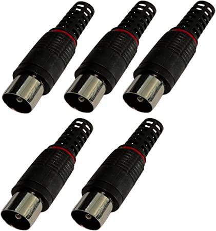 AERZETIX: 5X Conectores Enchufe Antena TV 9.5mm Macho para Cable coaxial RG6 C17781