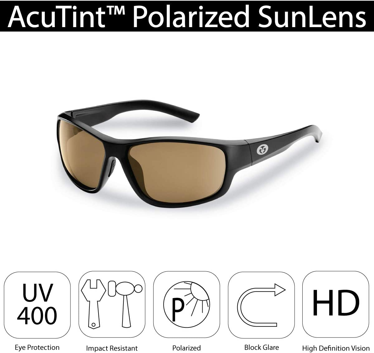 Flying Fisherman Teaser Polarized Sunglasses with AcuTint UV Blocker for Fishing and Outdoor Sports