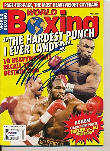 Mike Tyson Autographed Signed World Boxing Magazine Autograph Auto - PSA/DNA Certified (World Magazine Boxing)
