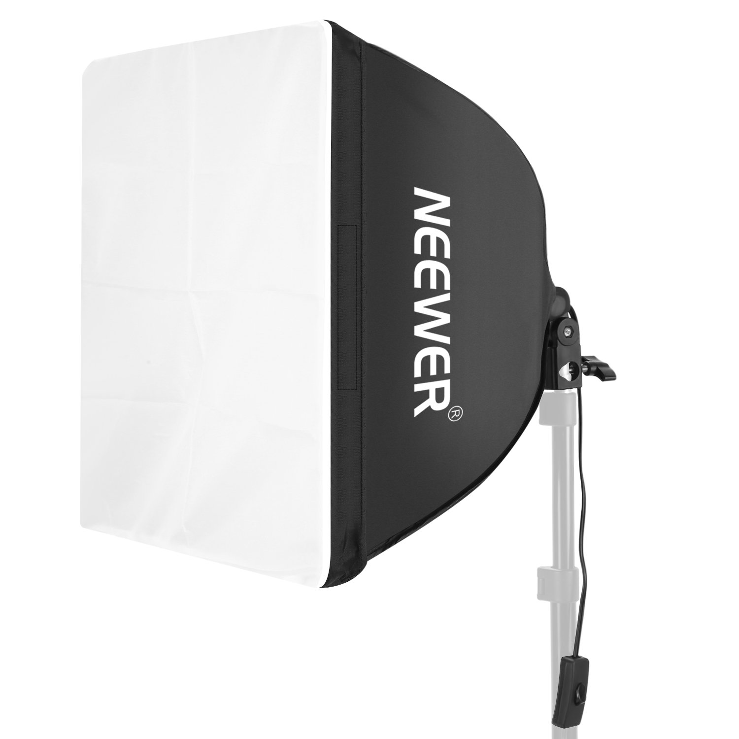 Neewer 24 x 24 inches/60 x 60 Centimeters Wired Studio Softbox Diffuser with E27 Socket for Fluorescent Bulb Lamp for Portrait Video Photography (Bulb Not Included) 10093052