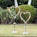 Driftwood & Beach Pebble Heart Shape Garden Stand