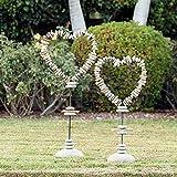 Driftwood & Beach Pebble Heart Shape Garden Stand - Medium