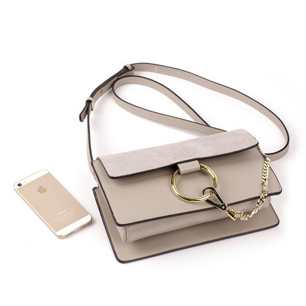 414d5797e085 Actlure Genuine Leather Crossbody Shoulder Bag Purse Chain link  Handbags   Amazon.com