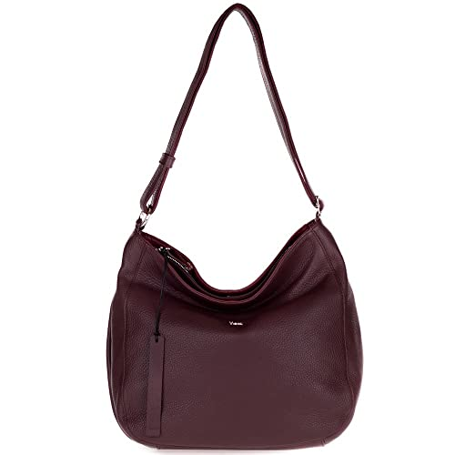 0f1c1af576 Amazon.com: Bruno Rossi Italian Made Bordeaux Red Leather Large Hobo Bag  with Side Pocket: Shoes