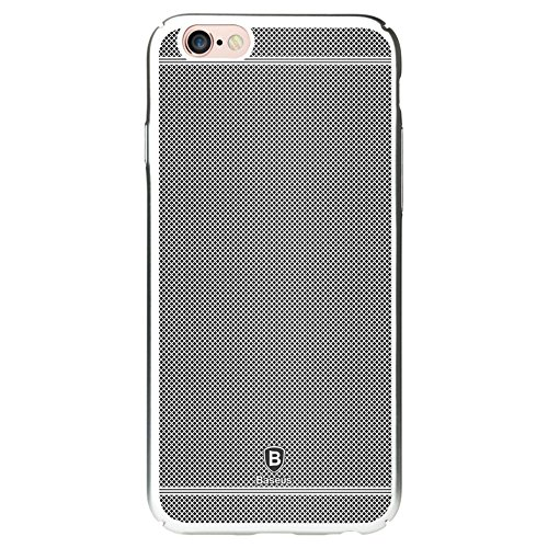 "Apple iPhone 6 6S 4.7"" Handy Tasche Baseus Hard Case Glory Series Grid Plating Hülle Silber"
