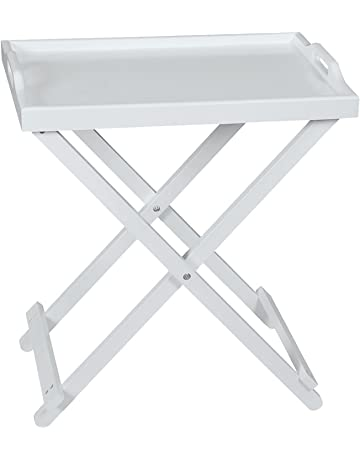 3b0a217a1de Taylor   Brown® White Wooden Folding Butler Tray Breakfast Serving Laptop  Tray Side Table