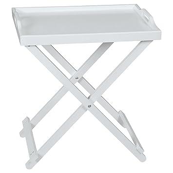 Table Dappoint Pliante Blanche En Bois Top Home Solutions Avec
