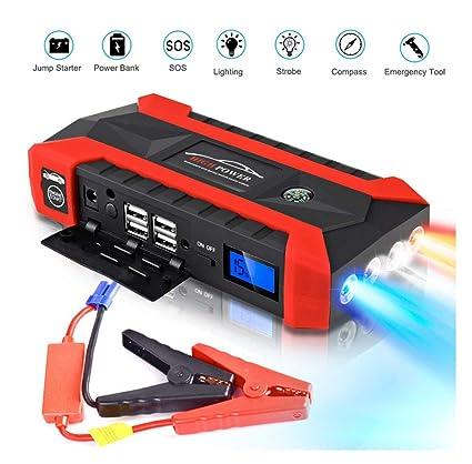 Amazon.com: WAWJ Batería 800A arrancador de coche, batería ...