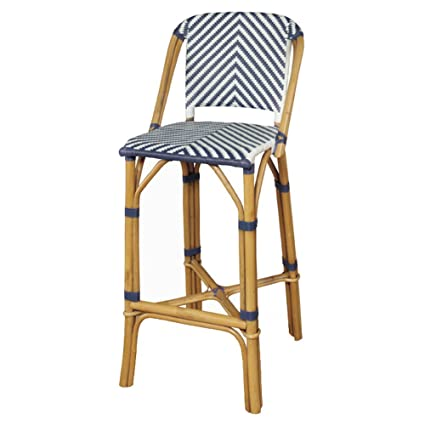 Superieur Progressive Furniture A146 42N Rum Point Rattan Bar Stool, Blue
