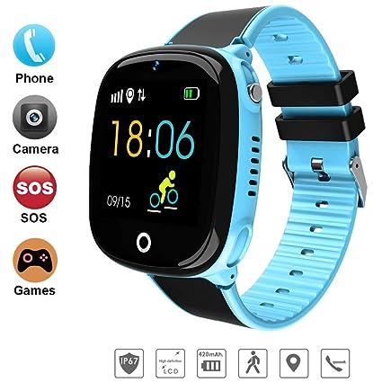 DUWIN 2019 Niños Inteligente Relojes, GPS Kids SmartWatch ...