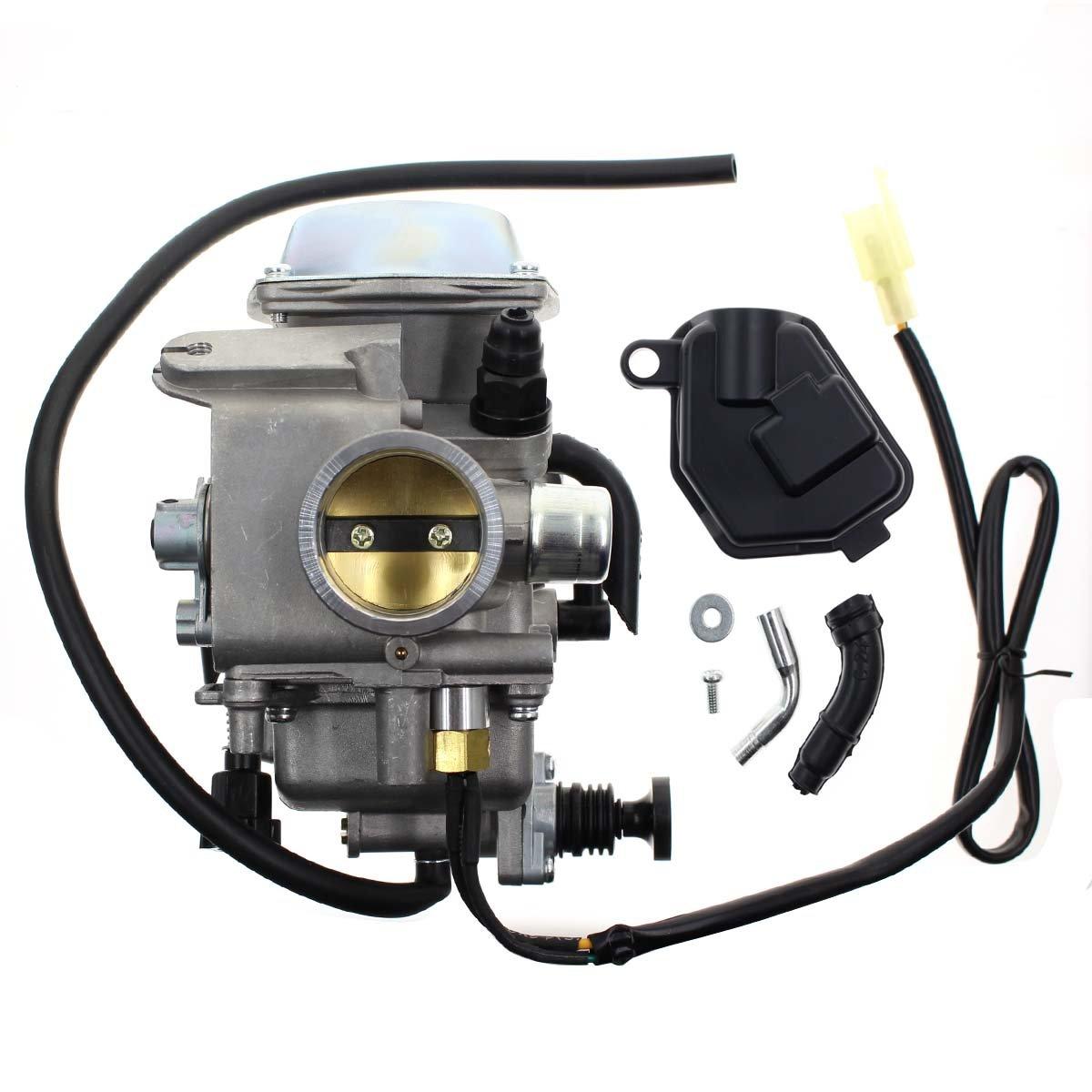 Carbhub Carburetor for Honda Foreman 450 TRX 450 TRX450ES TRX450FE TRX450FM TRX450S 1998-2004 Aftermarket Carb with Throttle Base Cover & Screw by Carbhub