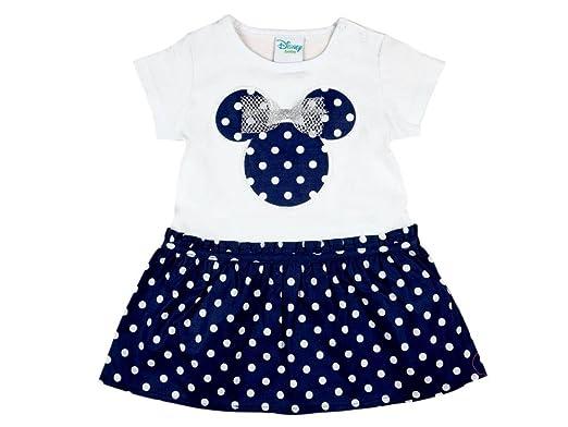 NEU 80 86 92 Disney Minnie Mouse Kleid Sommerkleid Strandkleid weiß Gr