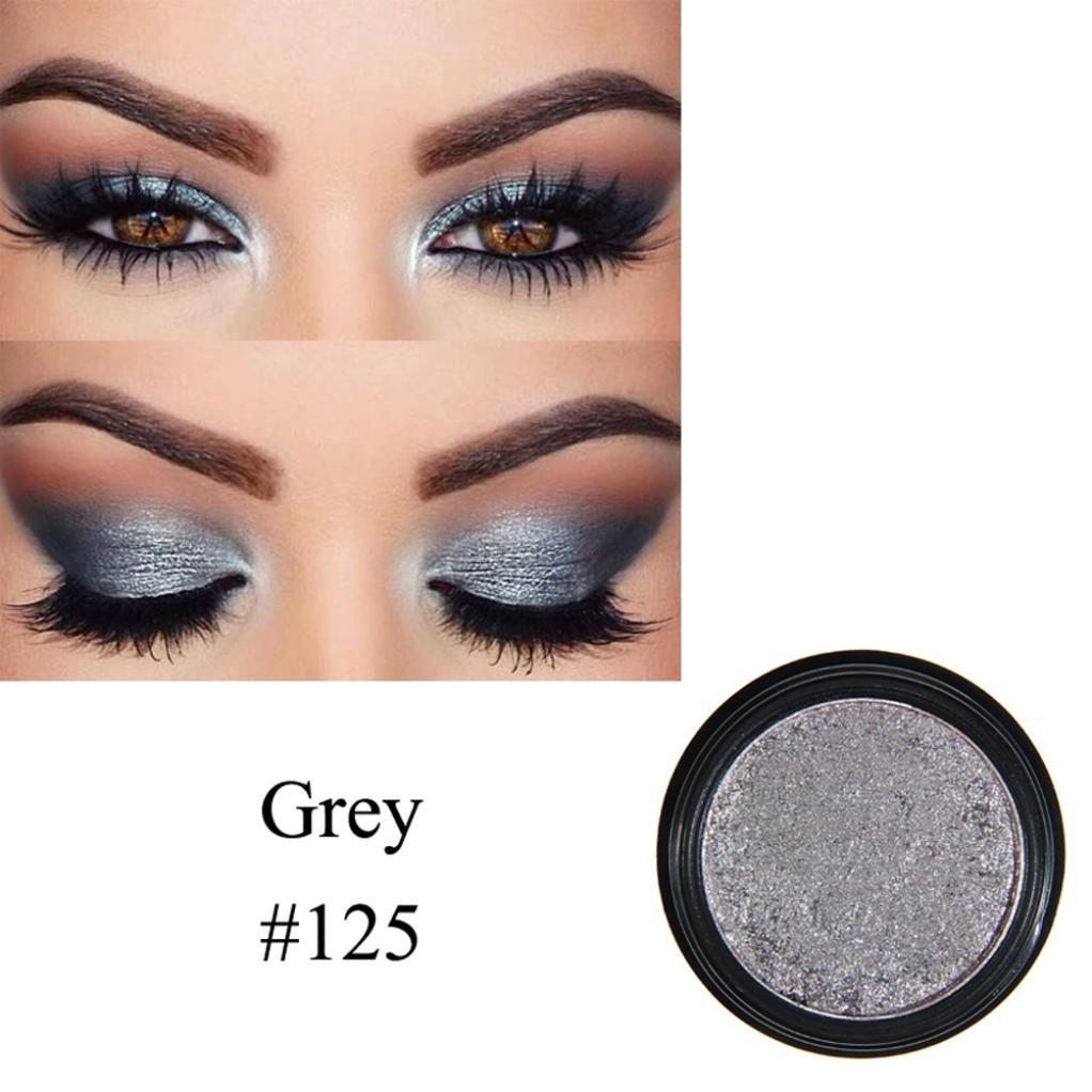 Ourhomer New PHOERA Glitter Powder Shimmering Colors Eyeshadow Metallic Eye Cosmetic Makeup (A Gray)