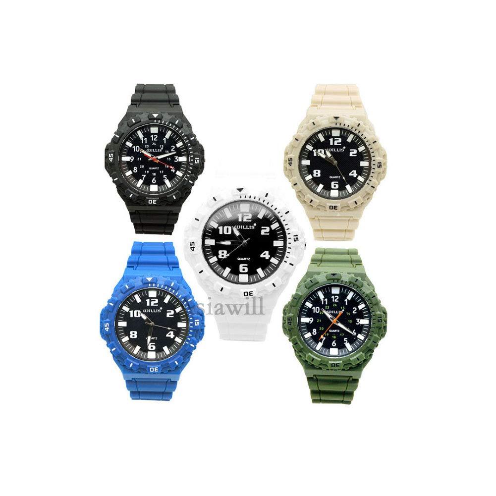 Asiawill 5 Pack Sports Watch Unisex Student Watch Luminous Analog Quartz Wrist Watch by Asiawill
