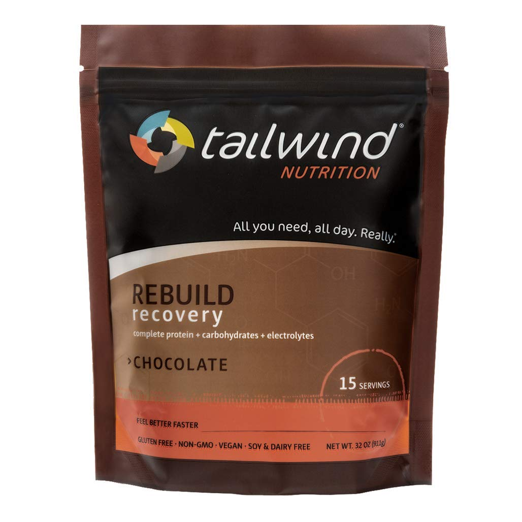 Tailwind Nutrition: New Rebuild Recovery Drink Mix - Chocolate Flavor, 15 Serving resealable Bag, Vegan with Complete Protein