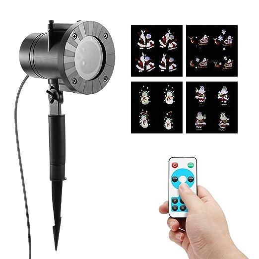 Proyector Navidad Movimiento, Frontoppy LED Paisaje Luces, Lámpara ...