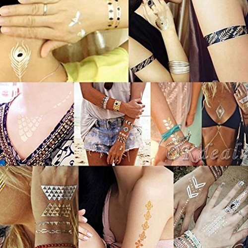 Bigood Colorful Nontoxic Double Wing Temporary Tattoo Sticker Paster by Bigood (Image #9)