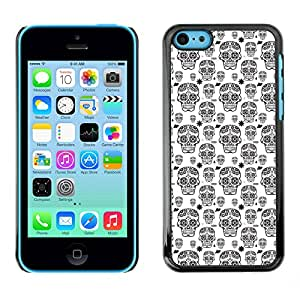 iKiki-Tech Estuche rígido para Apple iPhone 5C - White Skull