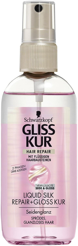 gliss kur hair repair 2 phase liquid silk 100ml beauty