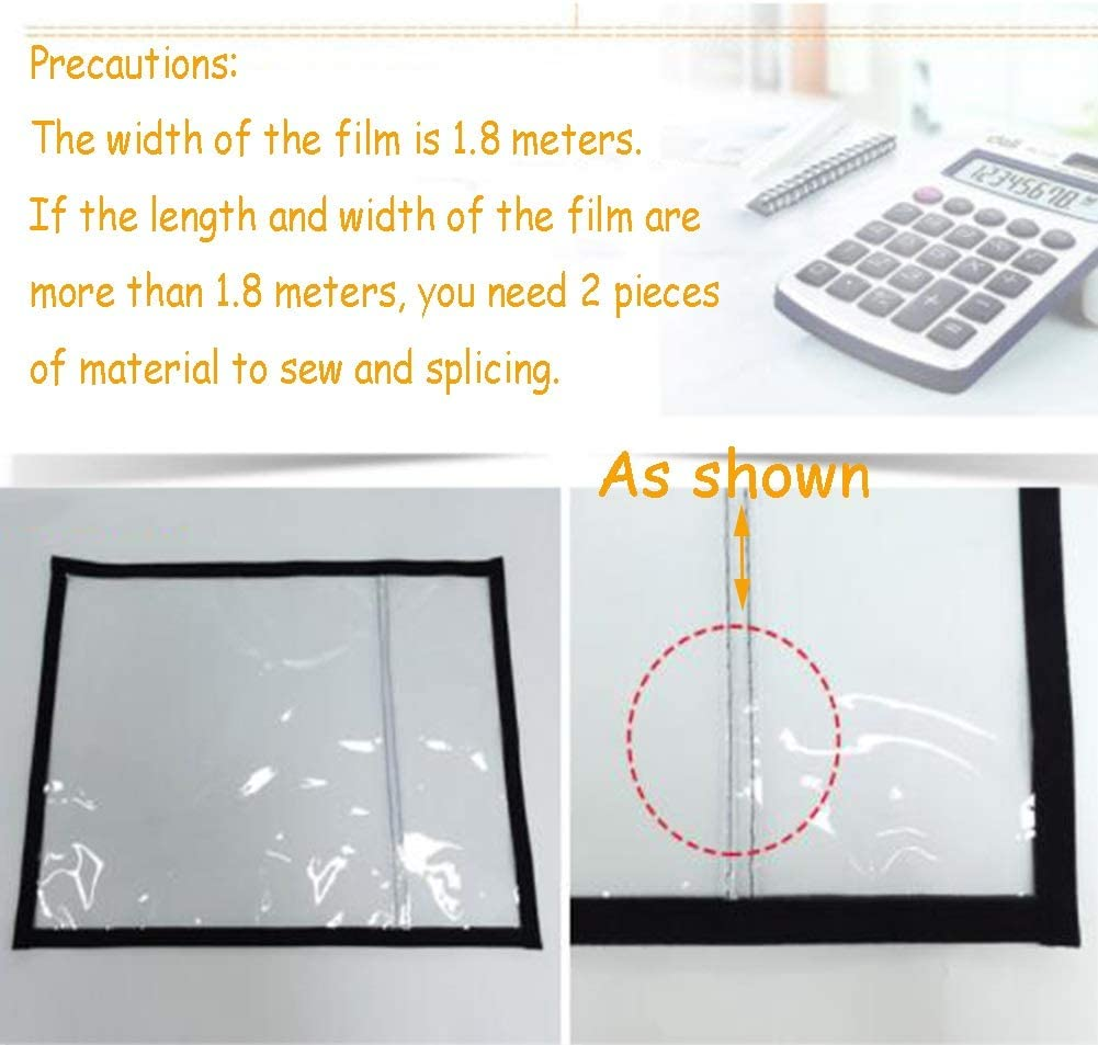 SHIJINHAO Tarpaulin Household Window Insulation Kit Thickening Transparent PVC Winter Internal Cold Protection Windshield 23 Sizes Color : Clear, Size : 1.0x1.0m