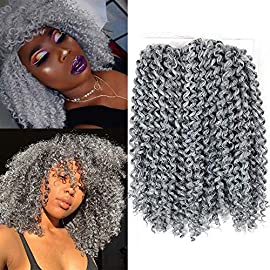 YXCHERISHAIR 10inch 3PCS/LOT,Synthetic Jerry Curl Weave Deep Wave Mambo Twist Crochet Braids with Kanekalon Fiber Heat…