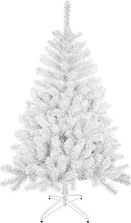 Arbol De Navidad Artificial Arboles C Soporte Metalico 120 240cm Blanco 180cm 477tips Amazon Es Hogar