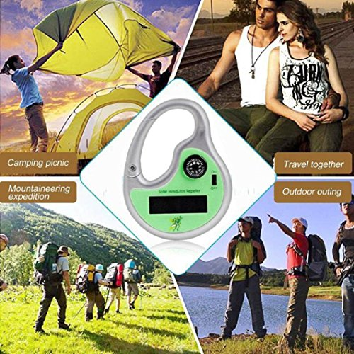 LtrottedJ Portable Solar Powered Sonic Mosquito Insect Repeller with Compass (Furniture Commercial Melbourne Outdoor)