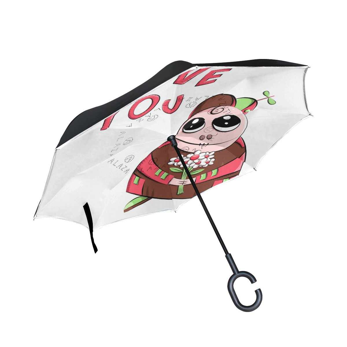 Amazon.com: Top Carpenter Double Layer Reverse Inverted Umbrellas Dachshund Sausage Dog Egg On Head With C-Shaped Handle for Car Outdoor: Sports & Outdoors