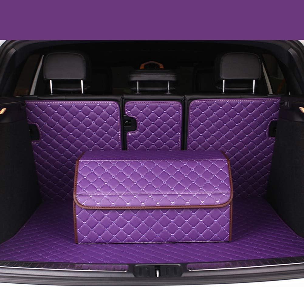 ZQWRM Kofferraumtaschen Aufbewahrungsbox PU-Leder Aufbewahrungstasche Organizer Wasserdicht Faltbar Kofferraum-Tasche F/ür Auto//LKW//SUV,Beige,S