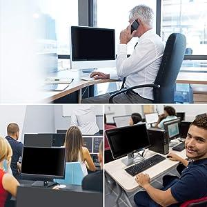 Ovimir 23.6 Inch (Diagonally Measured) Computer Privacy Screen Filter, [16:9 Aspect Ratio] for Widescreen Monitors Anti-Glare - Anti-Scratch Screen Protector - (WxH:522mmx293mm) (Color: 23.6 Widescreen (16:9 Aspect Ratio))