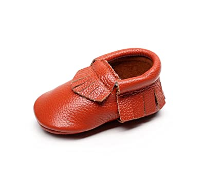 08652189f130 MIGO BABY Moccasins - Soft Genuine Leather Sole Baby Shoes and Toddler  Moccasins for Boys and