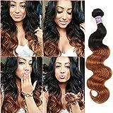 Ombre Brazilian Hair Body Wave Bundles 3pcs,Ombre Brazilian Virgin Hair Human Hair Weave (T1B/30,14''16''18'')