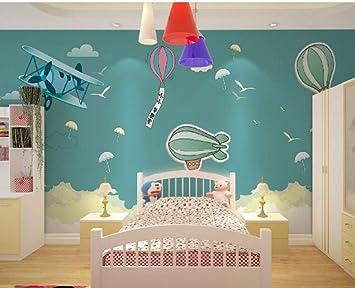 Cartoon Kinderzimmer Hintergrund Wandmalerei 3d Hand Gezeichnet Heissluftballon Junge Madchen Schlafzimmer Tapete About 430 300cm 9 Stripes Amazon De Baumarkt