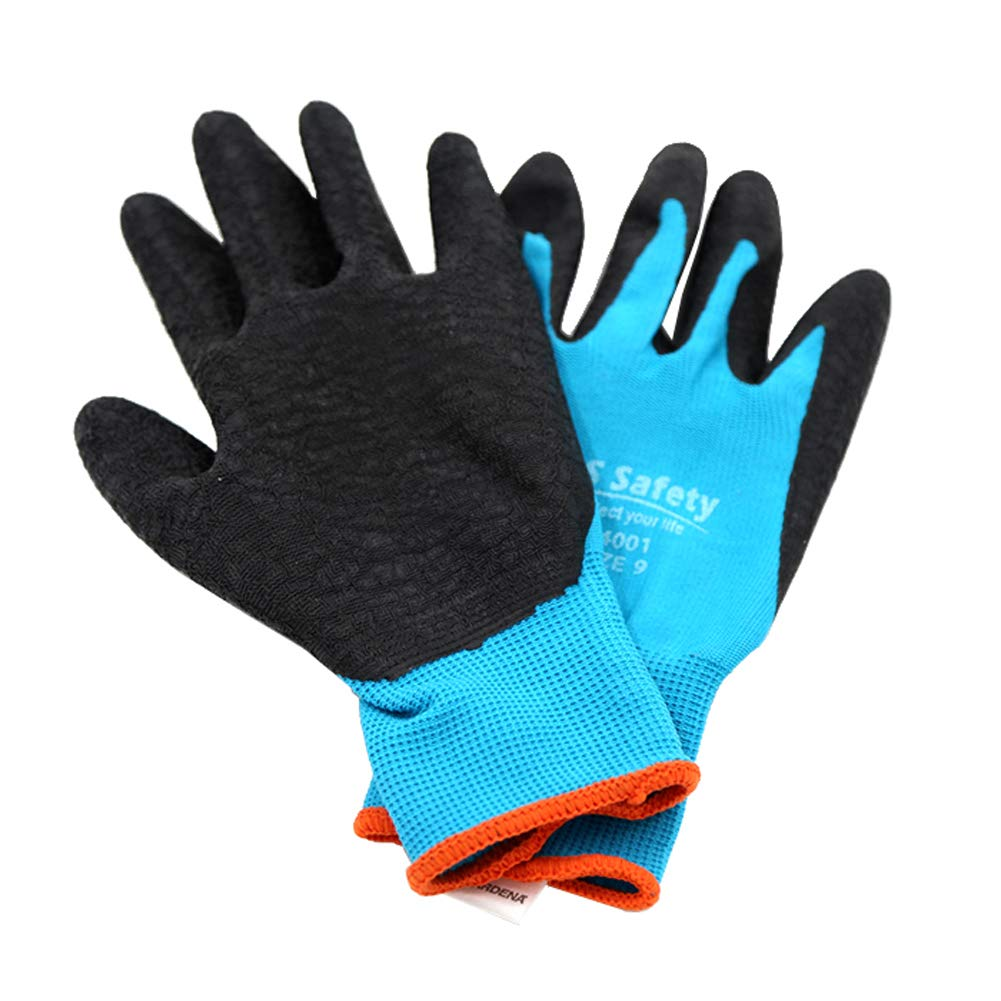 Xgxyklo Gardening Work Gloves for Men and Women with Seamless Breathable Nylon,10Pair,L